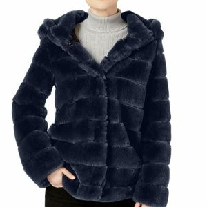 Laundry by Shelli Segal Hooded Faux-Fur Coat